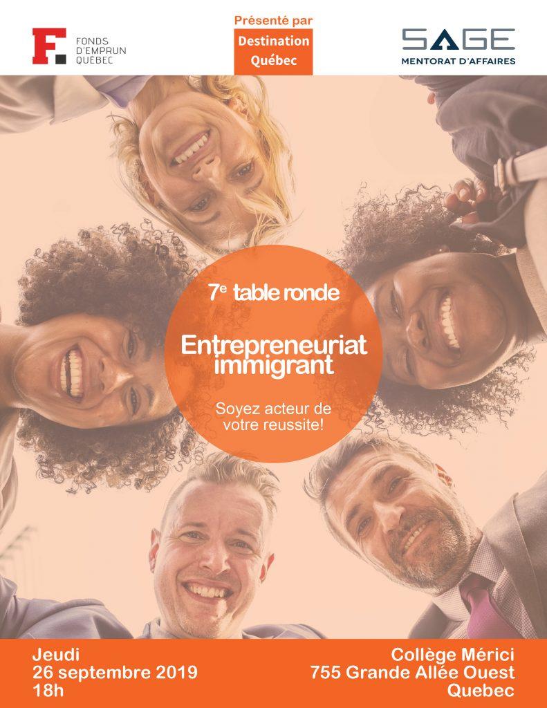 reseautage en entrepreneur sur le theme entrepreneurata immigrant à Québec