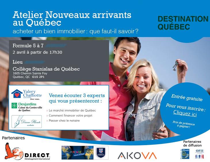 Atelier Conférence Destination Québec immobilier