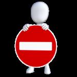 panneau sens interdit symbolisant les infractions au Cannabis qu'il faut éviter de faire au Canada