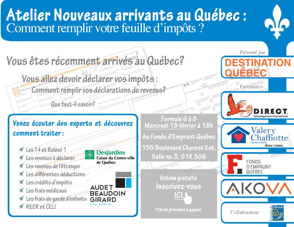 Premiere Declaration D Impots Au Quebec Soyez Informes