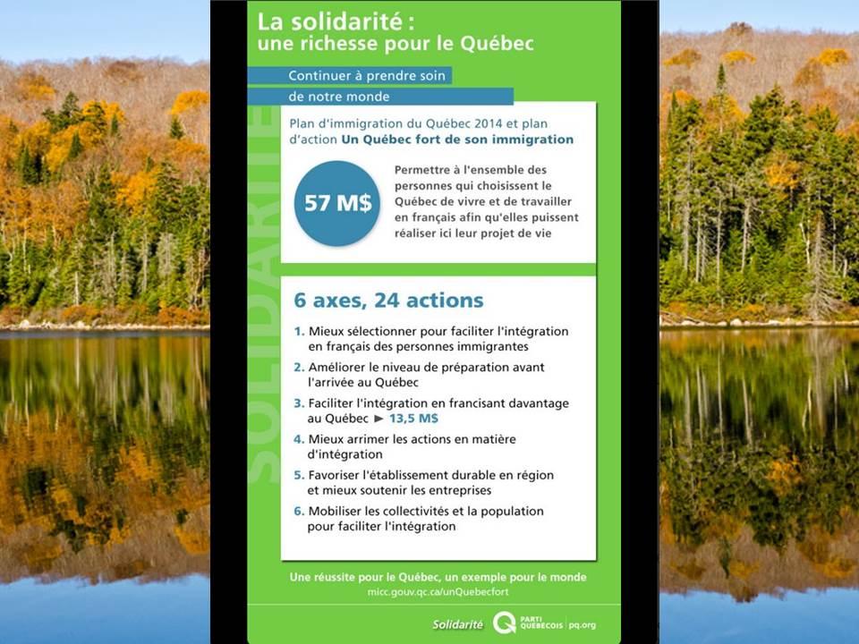 Plan immigration Québec 2014 immigrer