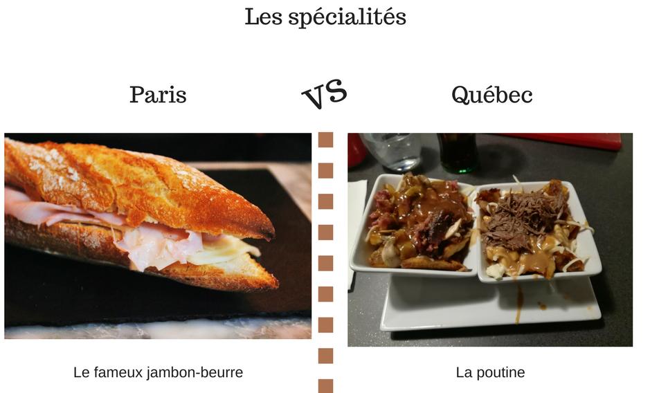 Paris, Québec, cuisine