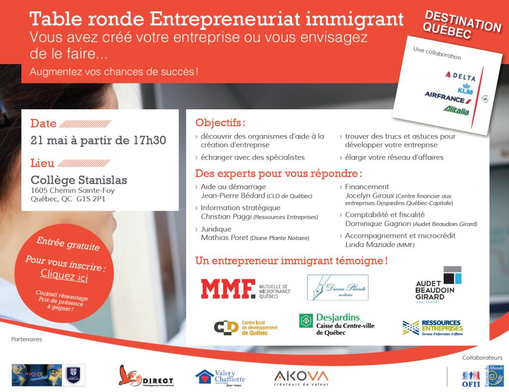 Entrepreneuriat immigrant entreprendre immigrer