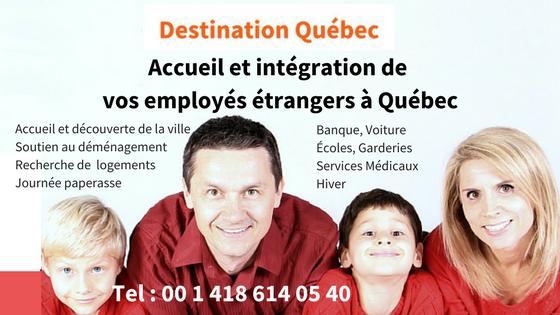 famille heureuse bénéficiant d'un service depréparation, d'accompagnement et d'accueil dans le cadre de leur recrutmeent par une entreprise québécoise qui recrute des employés à l'étranger