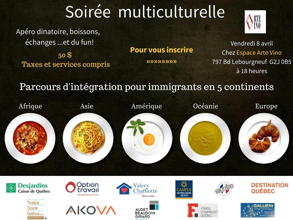 Soirée multiculturelle immigrant quebec